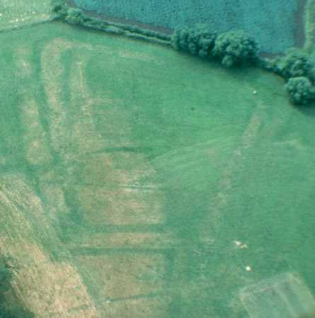 The site of a moat, visible as a cropmark at Stratford upon Avon | Warwickshire County Council
