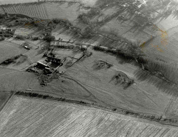 The deserted settlement of Brookhampton visible as a series of earthworks | Warwickshire County Council