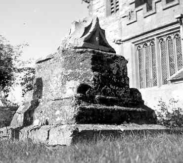 Cross base in All Saints Churchyard, Weston on Avon | Warwickshire County Council