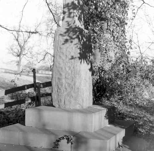 Base of a stone cross in St Mary's churchyard, Kinwarton | Warwickshire County Council