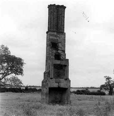 A chimney stack from a ruined house, Ansley, North Warwickshire | Warwickshire County Council