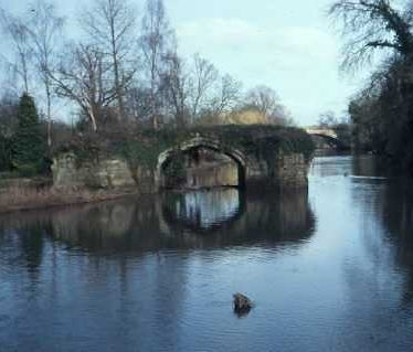 The remains of Old Castle Bridge in Warwick | Warwickshire County Council