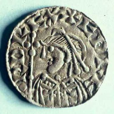 A coin of Edward the Confessor (1042 - 1066) which was minted at the Warwick mint | Warwickshire County Council