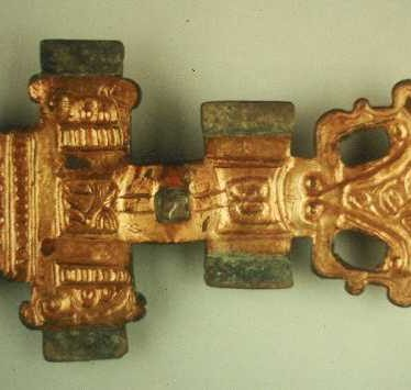 An Anglo Saxon cruciform brooch found during excavations at a cemetery site near Longbridge, Warwick | Warwickshire County Council