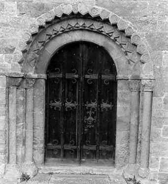 South doorway at St Lawrence's Church, Oxhill | Warwickshire County Council