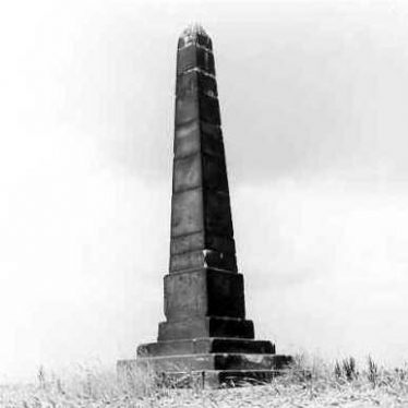 Obelisk on Site of Chapel of St Leonard on Hoo Hill near Polesworth