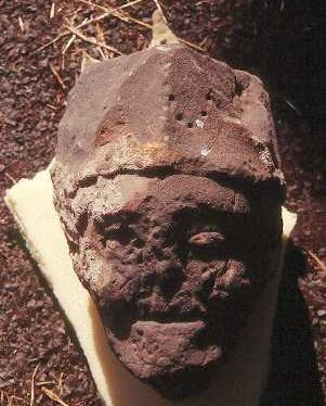 A carved stone head from Hartshill Castle, North Warwickshire | Warwickshire County Council