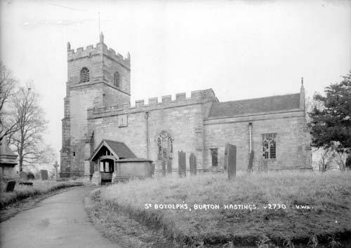 St. Botolph's Church, Burton Hastings | Warwickshire County Council