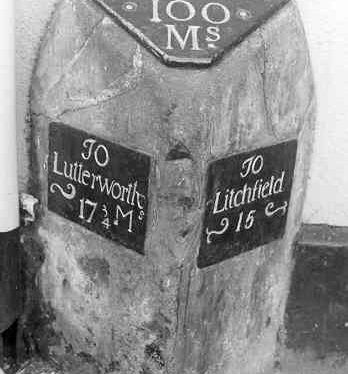 Milestone outside 'Red Lion', Long Street
