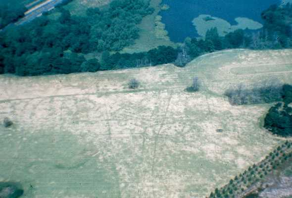 Linear features visible as cropmarks at Middleton, North Warwickshire | Warwickshire County Council