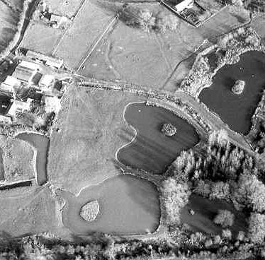 A moat, in the bottom left hand corner of the picture, at Draycote | Warwickshire County Council