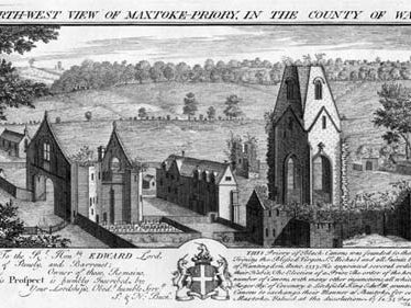 An engraving of Maxtoke Priory | Warwickshire County Council