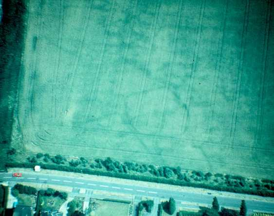Enclosures visible as cropmarks near Rugby   Warwickshire County Council