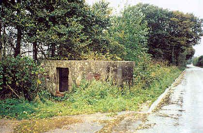A Second World War pillbox on Lawford Heath Lane, Long Lawford | A Armishaw