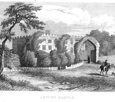 An engraving of Astley Castle | Warwickshire County Council