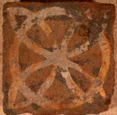 A Medieval floor tile from Combe Abbey | Warwickshire County Council