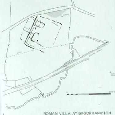 Site of Roman Villa 300m NE of Brookhampton, Kineton.