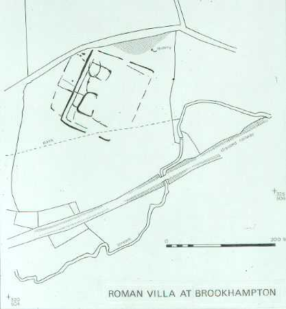 Plan of a Roman Villa, Brookhampton | Warwickshire County Council