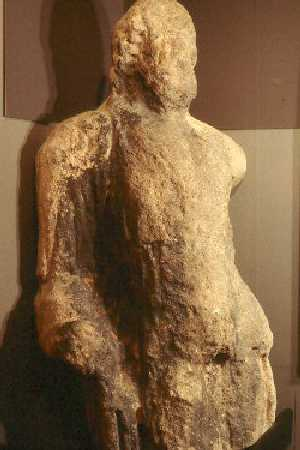 A Roman stone statue from Alcester   Warwickshire County Council