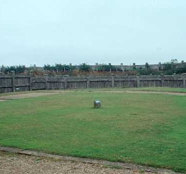 A reconstruction of the gyrus at The Lunt Roman Fort, Baginton | Warwickshire County Council