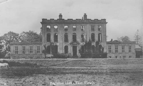 Baginton Hall, Baginton, viewed from the east   Warwickshire County Council