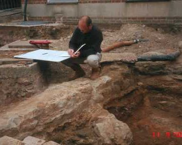 The excavation of a Post Medieval house in Priory Park, Warwick | Warwickshire County Council