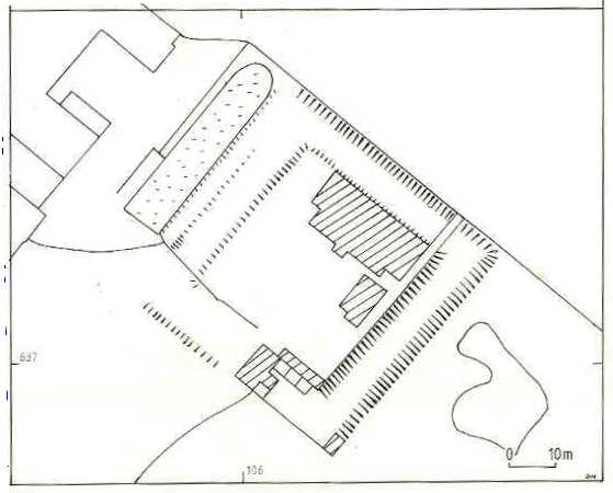 A plan of Netherstead Moat, near Morton Baggot | D. Hooke