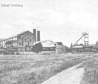 Site of Exhall Colliery at Black Bank, Bedworth