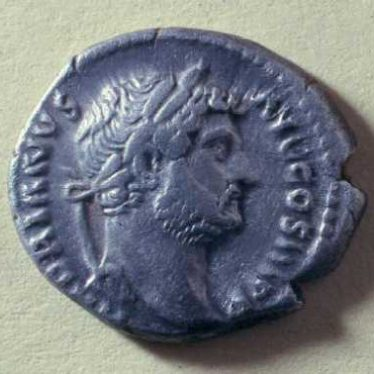 A Roman coin of Hadrian from the Kenilworth hoard | Warwickshire County Council