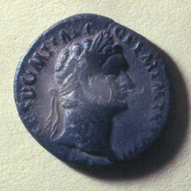 A Roman coin from a hoard found in Kenilworth | Warwickshire County Council