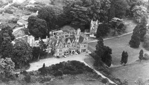 A view of Ettington Park House from the air | Warwickshire County Council
