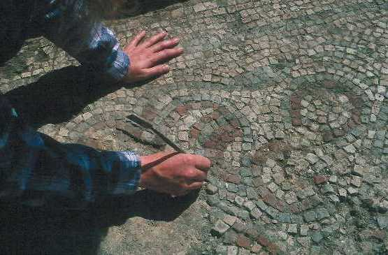 Excavation of a Roman mosaic at a villa site in Chesterton parish | Warwickshire County Council