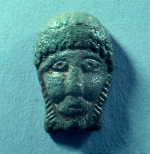 Iron Age Celtic head made of bronze from Welford on Avon | Warwickshire County Council