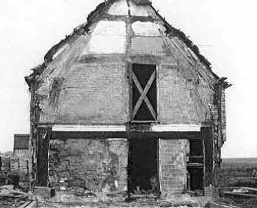 The exposed cruck frame in a Medieval cruck house, Over Whitacre   Warwickshire County Council