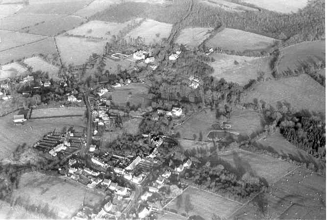 An aerial view of Loxley showing areas of medieval deserted settlement visible as earthworks | Warwickshire County Council