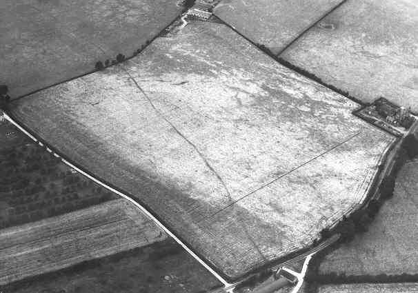 A linear cropmark visible on Alveston Hill   WA Baker
