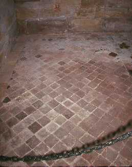 Medieval tiled floor, Guy's Tower, Warwick Castle