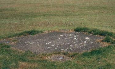 Site of a Bofors gun emplacement
