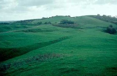 Earthwork remains of quarry activity at Burton Dassett Hills