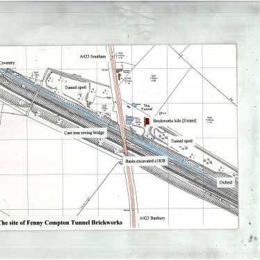 Map of Tunnel Brickworks, Fenny Compton | Warwickshire Industrial Archaeology Society