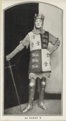 Gwen Lally as Henry V (date and performance details unknown). | Image originally uploaded by the Folger Shakespeare Library