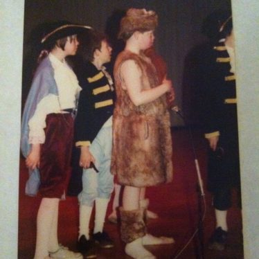 1984 school play at the Civic Hall. Lisa Johnson, Ian Paul, Mark Randle. | Image courtesy of Lisa Crankshaw
