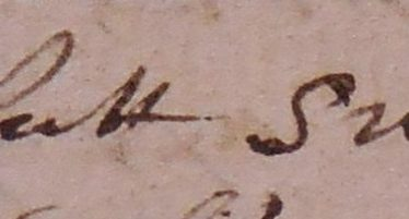 'A fat swan' - a New Year's gift. | Warwickshire County Record Office reference CR136/A37