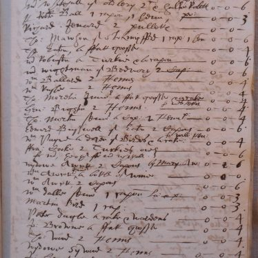 A list of New Year's gifts from the Newdigate household, with expenses, 1623. | Warwickshire County Record Office reference CR136/A37