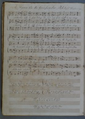 MS page of 'The Gunpowder Plot'. A musical score | Warwickshire County Record Office reference DR405/39