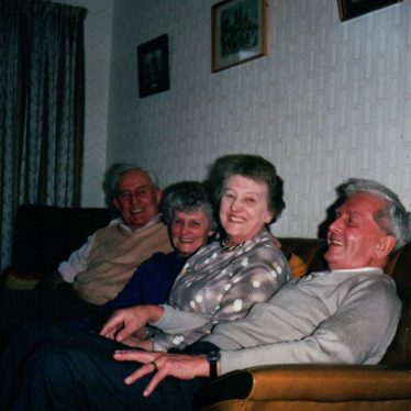 Brothers and sisters – Harold, Kath (Edwards), Win and Harry 1988. | Image courtesy of Pam Skinner.