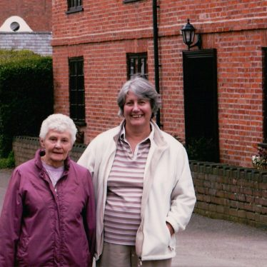 Kath Edwards and Pam Skinner in front of Churchview, Brookside, Stretton on Dunsmore. | Image courtesy of Pam Skinner.