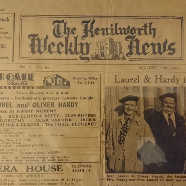 Global Superstars Laurel and Hardy Arrive in Kenilworth