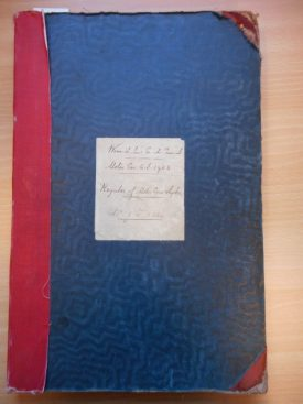 Front cover of the very first vehicle registration book for Warwickshire. | Warwickshire County Record Office reference CR1827/2