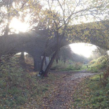 Railway Bridge carrying footpath over former LNWR Rugby-Leamington Railway. | Image courtesy of Paul Hayden-Hart